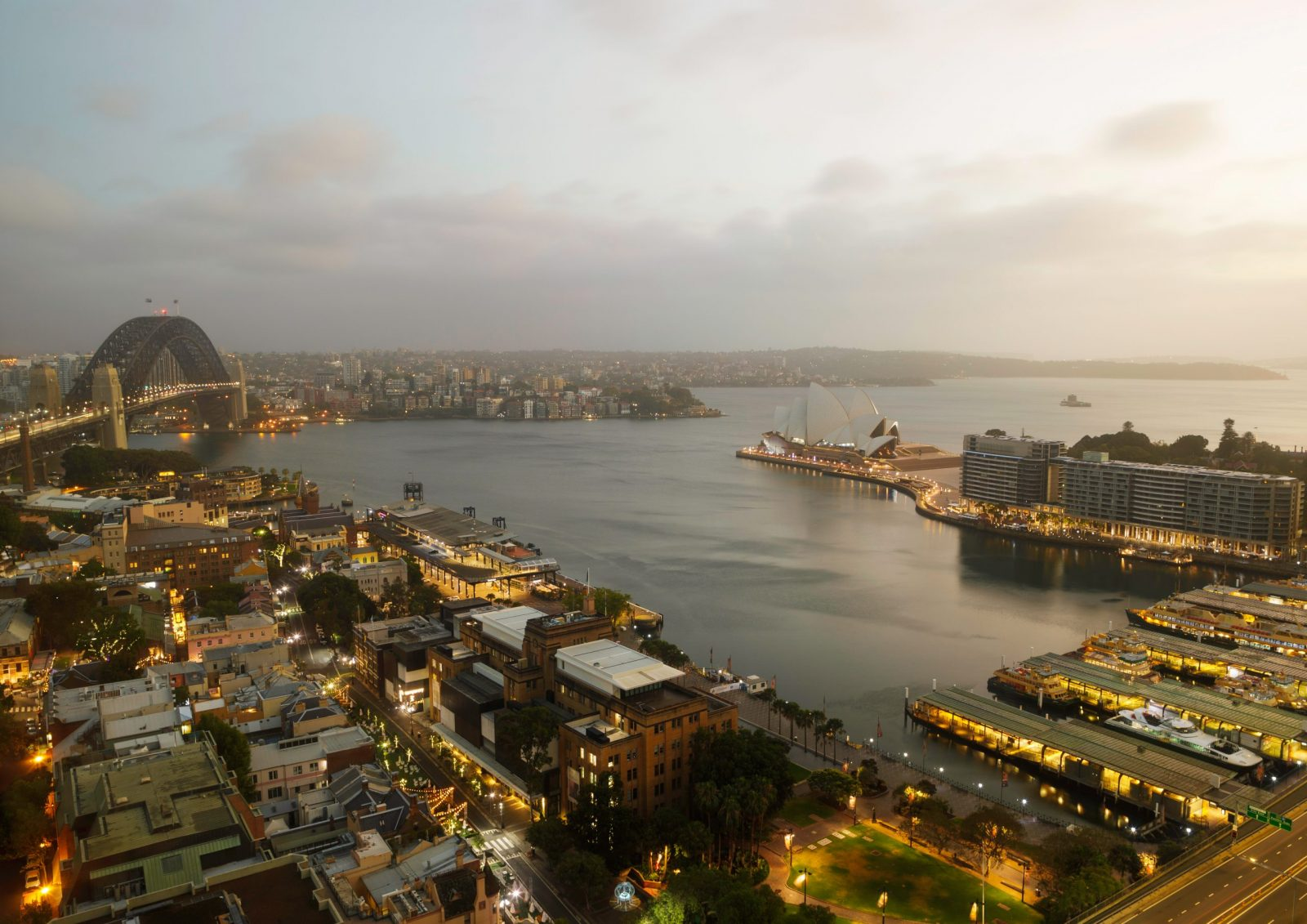 Good Morning Sydney Harbour from Four Seasons Hotel
